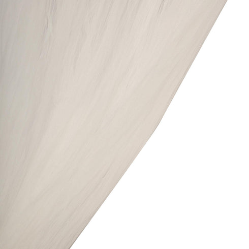 5 FT x 10 FT - Double Sided Tulle Backdrop Sheer Curtain Panels with Satin Rod Pockets - Ivory