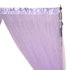 5FTx10FT | Sheer Curtains | Double Sided Tulle Backdrop Curtain Panels | Lavender Curtains