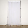 5FTx10FT | Sheer Curtains | Double Sided Tulle Backdrop Curtain Panels | White Curtains