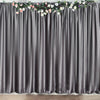 8Ft H x 8Ft W Charcoal Gray Premium Velvet Backdrop Curtain Panel Drape