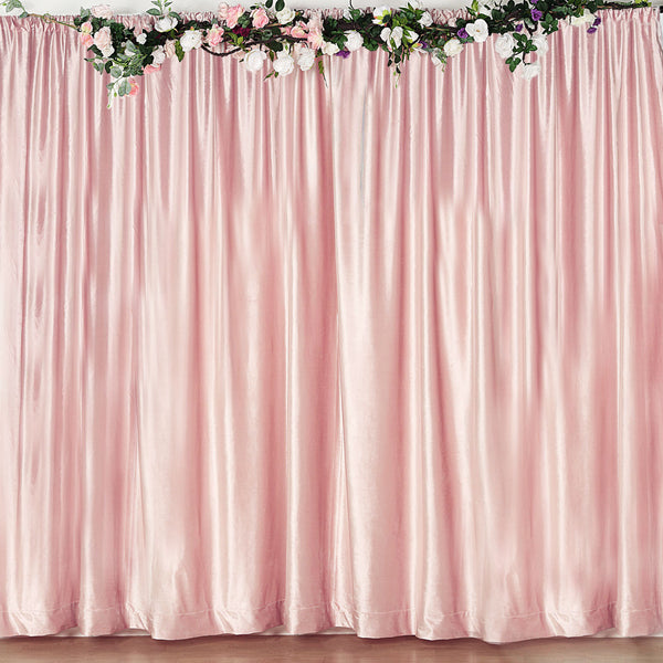 8Ft H x 8Ft W Blush Premium Velvet Backdrop Curtain Panel Drape