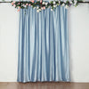 8Ft H x 8Ft W Dusty Blue Premium Velvet Backdrop Curtain Panel Drape