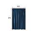 8Ft H x 8Ft W Navy Blue Premium Velvet Backdrop Curtain Panel Drape