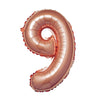 "16"" Rose Gold Mylar Foil Number Balloons"