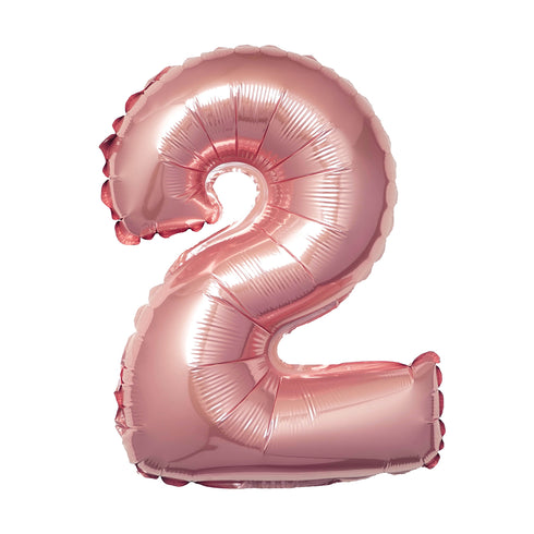 "16"" Blush Mylar Foil Number Helium Balloons"