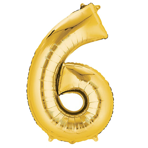 40in Mylar Foil Helium Number Balloons-Gold
