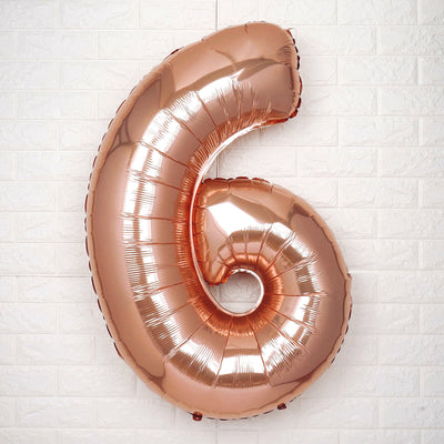 "40"" Rose Gold Mylar Foil Number Helium Balloons"