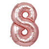 "40"" Blush Helium Foil Number Mylar Balloons - 8"