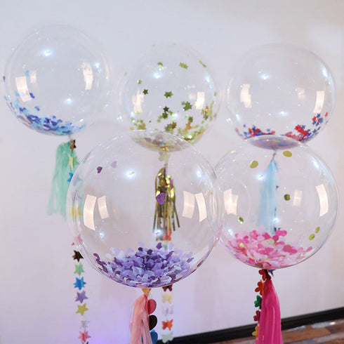 "10 Pack 16"" Clear Transparent Helium Air Durable PVC Bubble Balloons"