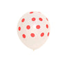 "25 Pack | 12"" Hot Pink SENSATIONAL Polkadot Latex Balloons"