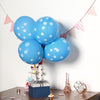 "25 Pack - 12"" Blue SENSATIONAL Latex Polka Dot Balloons"