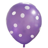 "12"" SENSATIONAL Polkadot Latex Balloons - Purple 25/pk"