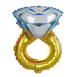 "12"" Diamond Engagement Wedding Ring Helium Mylar Foil Balloon"