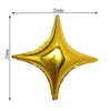 "3 Pack | 23"" Gold Star Shape Foil Mylar Balloons 