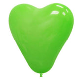 "12"" HAPPY HEART Latex Balloons - Green 25/pk"