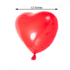 "25 Pack | 12"" Red HAPPY HEART Latex Balloons"