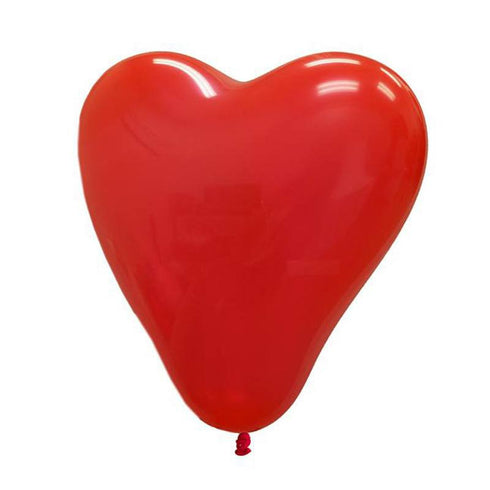 "12"" HAPPY HEART Latex Balloons - Red 25/pk"