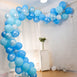 100 Pack DIY Balloon Garland Kit, Balloon Arch Party Decoration - Blue, Silver, White