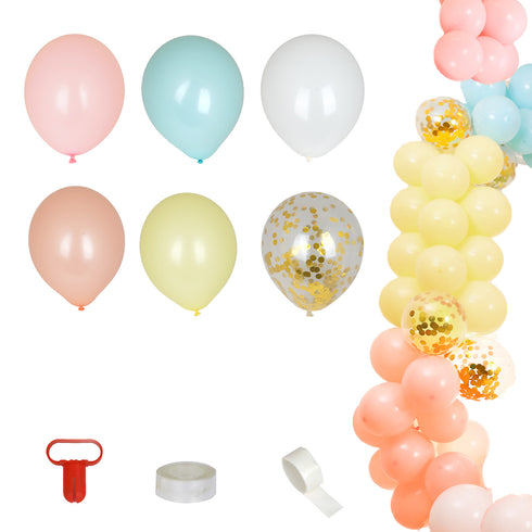 110 Pack DIY Balloon Garland Kit, Balloon Arch Party Decoration - Pastel Candy Colors