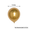 "25 Pack - 12"" Chrome Gold Metallic Latex Helium Balloons"