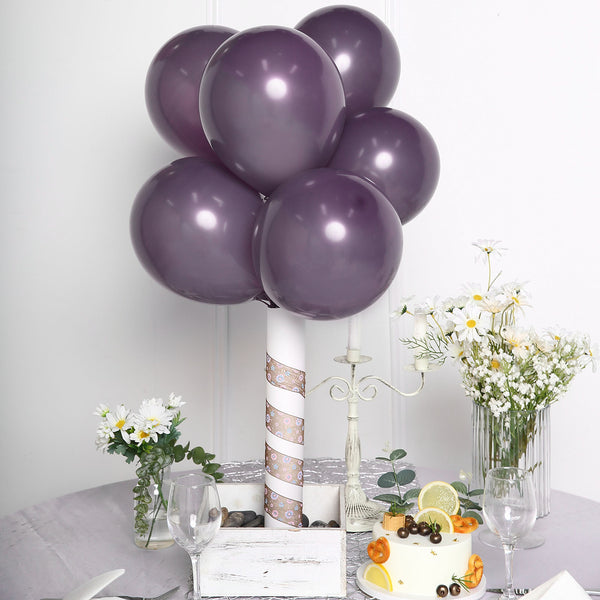"25 Pack - 10"" Pastel Amethyst Round Latex Balloons - Matte Color Helium Balloons"