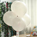 "25 Pack - 10"" Pastel Off White Round Latex Balloons - Matte Color Helium Balloons"