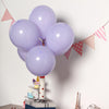 "25 Pack - 10"" Pastel Periwinkle Round Latex Balloons - Matte Color Helium Balloons"
