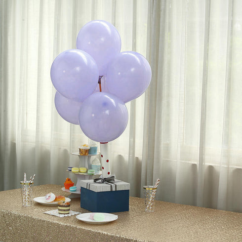 "25 Pack | 10"" Pastel Periwinkle Round Latex Helium Balloons 