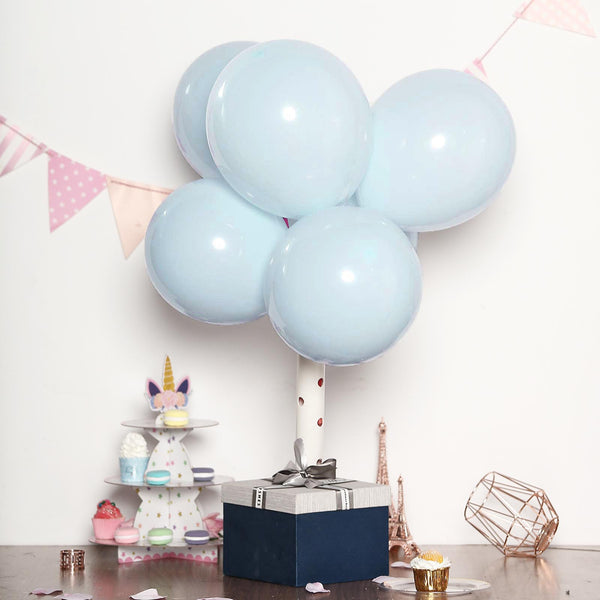 12 Pack Table Balloon Decoration Display Kit 6 65th Birthday  2 BLUE