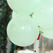 "25 Pack - 12"" Pastel Mint Round Latex Balloons - Matte Color Helium Balloons"