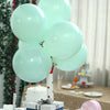 "25 Pack - 12"" Pastel Turquoise Round Latex Balloons - Matte Color Helium Balloons"