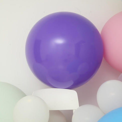 "2 Pack - 32"" Large Purple Round Latex Balloons - Helium Balloons"