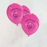 "12"" Pink Metallic Latex Baby Shower Balloons Prarty Decoration - 25/pk"
