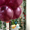 "25 Pack 12"" Burgundy Chrome Water Air Helium Party Latex Balloons Wholesale"
