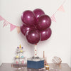 "25 Pack - 12"" Burgundy Pearl Balloons - Water Air Helium Party Latex Balloons"