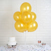 "25 Pack 12"" Antique Gold Water Air Helium Party Metallic Latex Balloons Wholesale"