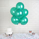 "25 Pack 12"" Green Water Air Helium Party Metallic Latex Balloons Wholesale"