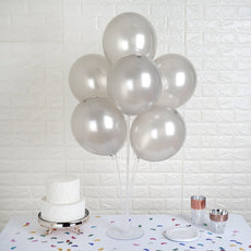 "25 Pack 12"" Silver Chrome Latex Water Air Helium Party Balloons"
