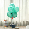 "25 Pack - 12"" Turquoise Pearl Balloons - Water Air Helium Party Latex Balloons"