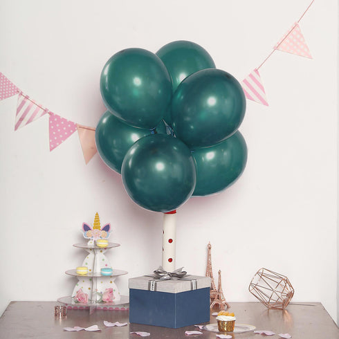 "25 Pack - 12"" Willow Green Pearl Balloons - Water Air Helium Party Latex Balloons"