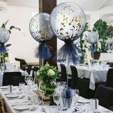 "10 Pack 30"" Clear Plastic Balloons Column Stand Sticks for Wedding Birthday Party Decoration"