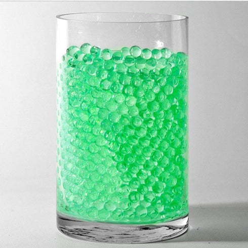 Small Round Deco Water Beads Jelly Vase Filler Balls - 200 to 250pcs - Apple Green