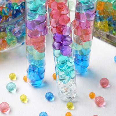 200 to 250 PCS | Royal Blue Small Round Deco Water Beads Jelly Vase Filler Balls