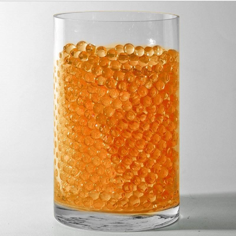 Orange Small Round Deco Water Beads Jelly Vase Filler Balls For Centerpieces Table Decoration - 200 to 250 PCS