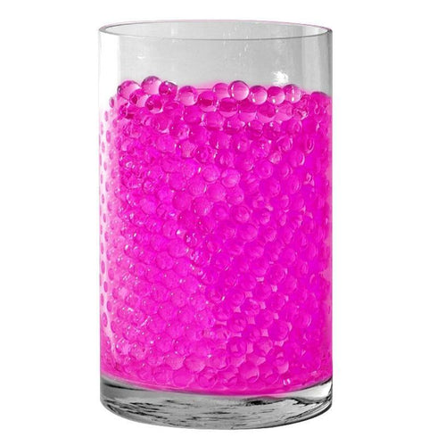 Pink Small Round Deco Water Beads Jelly Vase Filler Balls - 200 to 250 PCS