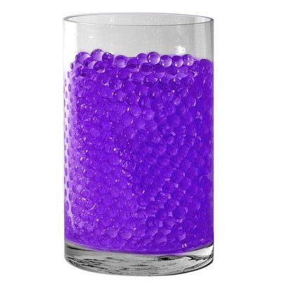 Small Round Deco Water Beads Jelly Vase Filler Balls - 200 to 250pcs - Purple