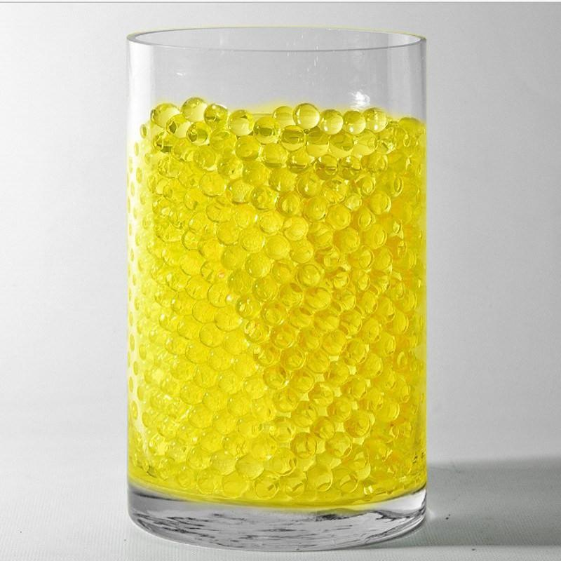 Yellow Small Round Deco Water Beads Jelly Vase Filler Balls For Centerpieces Table Decoration - 200 to 250 PCS
