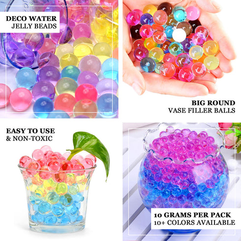 10 grams | Black BIG Round Deco Water Beads Jelly Vase Filler Balls
