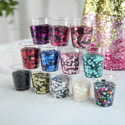50 Grams Iridescent DIY Art & Craft Confetti Glitters - Chunky Glitters