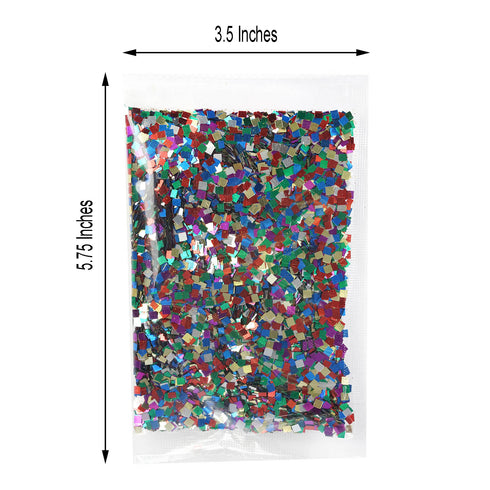 50 Grams Multi-Color DIY Art & Craft Confetti Glitters - Chunky Glitters